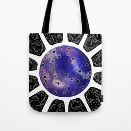 Inverted One of Microbes Tote Bag