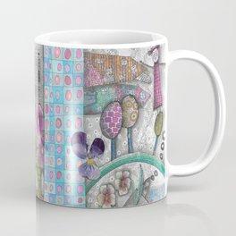 "llustration ""Woman with Binoculars"" Coffee Mug"