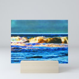 Abstract rolling waves Mini Art Print