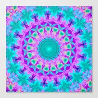 kaleidoscope Canvas Prints featuring Kaleidoscope by Sylvia Cook Photography