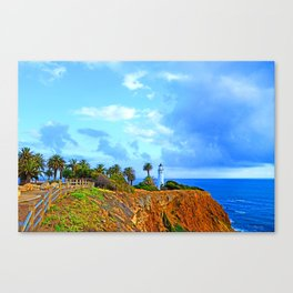 Point Vicente Light House Canvas Print
