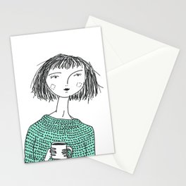 Coffee and Sweaters Stationery Cards