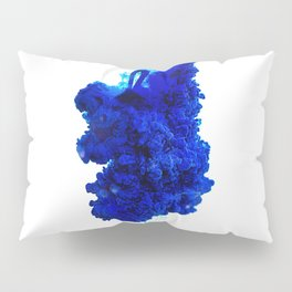 INDIAN INK IN WATER / COBALT Pillow Sham