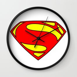 Superman Logo PNG Wall Clock