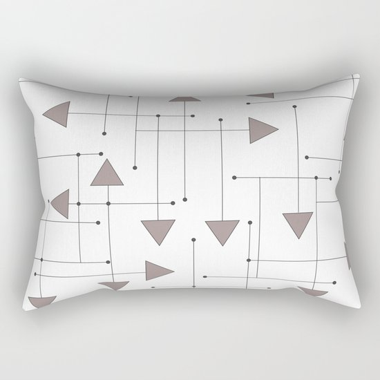 Lines & Arrows Rectangular Pillow