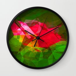Pink Roses in Anzures 3 Abstract Polygons 1 Wall Clock