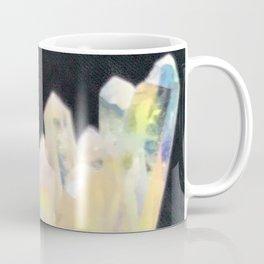 Angel Aura Crystals Clear Quartz Cluster Unicorn Fantasy Castle Coffee Mug