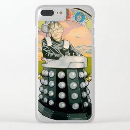 Stephen Hawking Dalek Clear iPhone Case