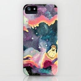Hedgehog in a Space Nebula iPhone Case