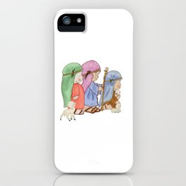 The three kings nativity iPhone Case