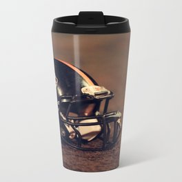 American Football Helmet Metal Travel Mug