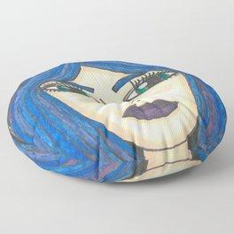 Fur Hooded Girl Floor Pillow