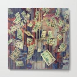 Falling Money Metal Print