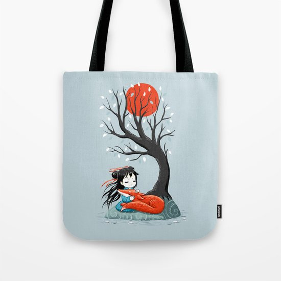 Girl and a Fox 2 Tote Bag