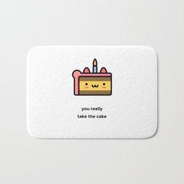 JUST A PUNNY BIRTHDAY CAKE JOKE! Bath Mat