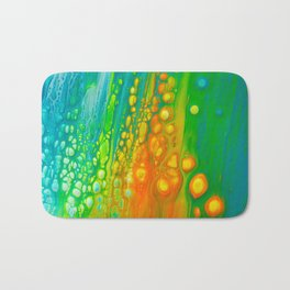 Aqua orange Bath Mat