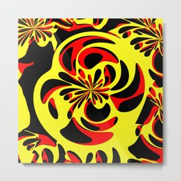 Yellow red and black Metal Print