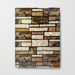 Villa Brickpaper Metal Print