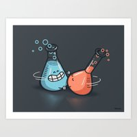 chemistry Art Prints featuring Chemistry by Walmazan