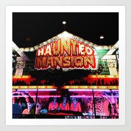 Carnival Haunted Mansion Art Print