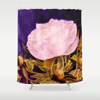 peony Shower Curtains featuring Peony by Vargamari