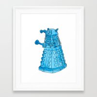 dalek Framed Art Prints featuring Dalek by Margret Stewart