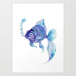 Baby Blue #5 Art Print
