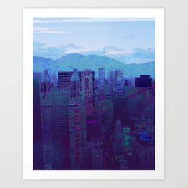 They Rise Like Mountains  Art Print