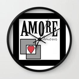 "A series of "" Favorite pillow "". Love. Wall Clock"