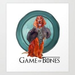 Game of Bones Sonsa as an Irish Setter Art Print