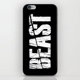 Beast iPhone Skin
