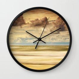 Stormy North Sea Wall Clock