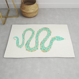 Mint & Gold Serpent Rug