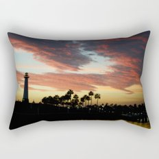 Sunset at Shoreline Aquatic Park Rectangular Pillow
