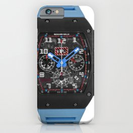 Richard Mille 011 Restivo Edition DLC Titanium Blue Flyback Chronograph 50MM Watch iPhone Case