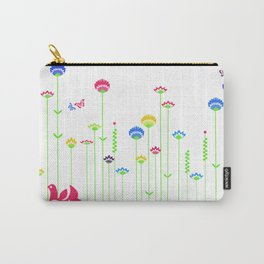 Cute retro hen  Carry-All Pouch