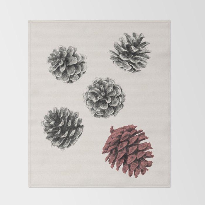 Pine cones Throw Blanket