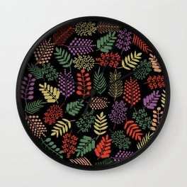 Colorful branches 2 Wall Clock
