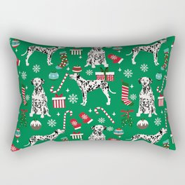 Dalmatian dog breed christmas holiday presents candy canes dalmatians dogs Rectangular Pillow