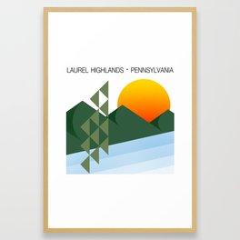 Laurel Highlands (minimalist landscape) Framed Art Print