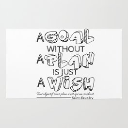 A Goal Without A Plan Is Just A Wish. Rug