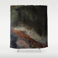 study Shower Curtains featuring figure study by Imagery by dianna