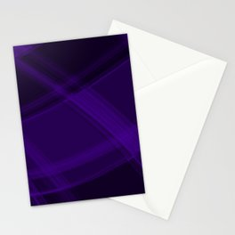 Flowing sapphire curved lines with dark, chaotic nets of intersecting Scottish stripes.  Stationery Cards