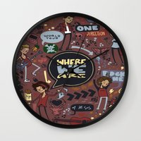 cargline Wall Clocks featuring WWA Poster by cargline