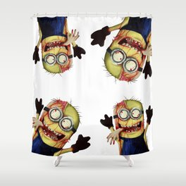 Zombie minion Shower Curtain