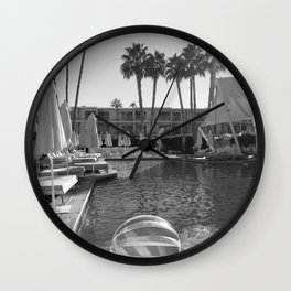 Greetings from Palm Springs Wall Clock