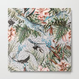 Paradisiacal flora and fauna Metal Print