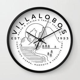 Villalobos Family Vacation Wall Clock
