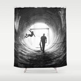 Kick. Push. Coast. Shower Curtain