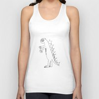 dino Tank Tops featuring Dino by landon zobel